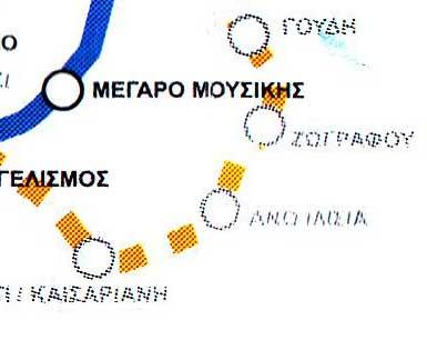 Λεπτομ�ρεια χάρτη μετρό