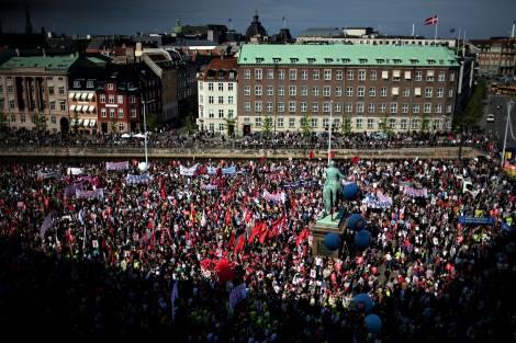 40.000 διαδηλωτές στην Κοπεγχάγη, φωτό Adrian Joachim